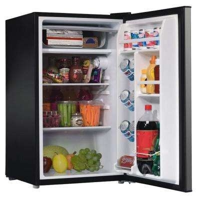3.5 cu. ft. Mini Refrigerator Single Door Only in Stainless Look