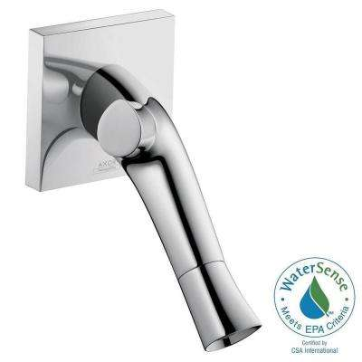 Starck Organic Single-Handle Wall Mount Bathroom Faucet with Low-Arc in Chrome