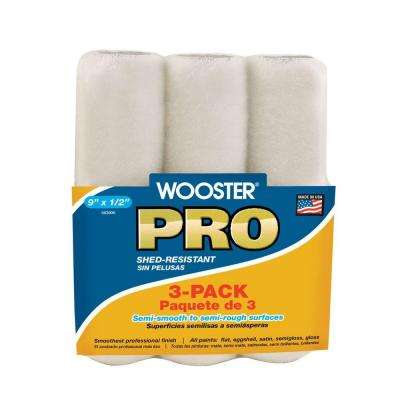 9 in. x 1/2 in. High Density Woven Roller Cover (3-Pack)
