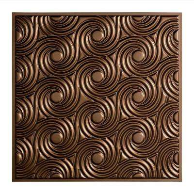 Cyclone - 2 ft. x 2 ft. Lay-in Ceiling Tile in Argent Bronze
