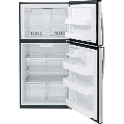 21.1 cu. ft. Top Freezer Refrigerator in Stainless Steel, ENERGY STAR