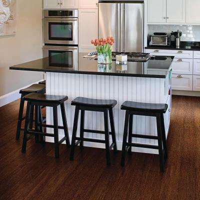 Strand Woven Sapelli 3/8 in. Thick x 4-3/4 in. Wide x 36 in. Length Click Lock Bamboo Flooring (19 sq. ft. / case)