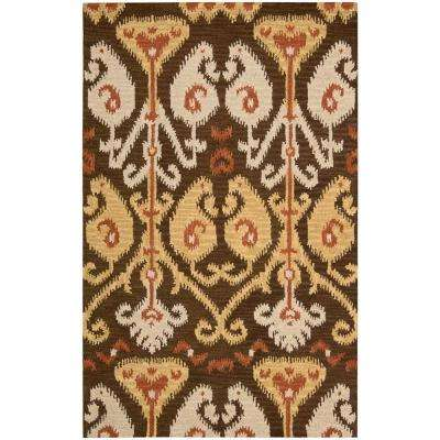 Siam Chocolate 3 ft. 6 in. x 5 ft. 6 in. Area Rug