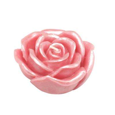 3 in. Pink Rose Floating Candles (Box of 12)