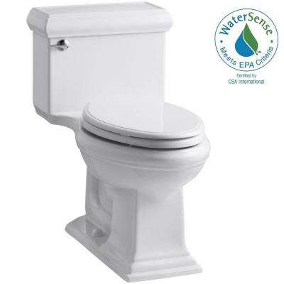 Memoirs Classic 1-Piece 1.28 GPF Single Flush Elongated Toilet with AquaPiston Flush Technology in White