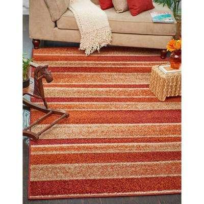 Autumn Artisanal Rust Red 2' 6 x 10' 0 Runner Rug