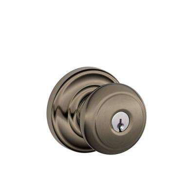 Andover Antique Pewter Keyed Entry Knob