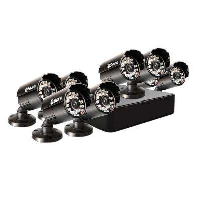 8-Channel 960H Mini DVR with 500 GB HDD and 8 Pro-615 Cameras