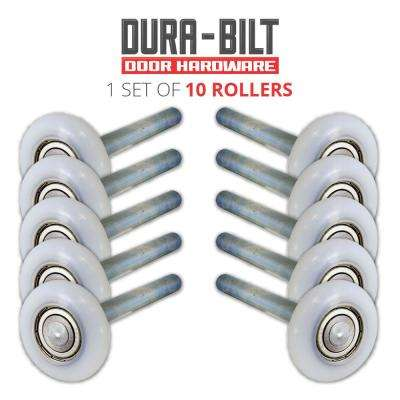 Ultra-Life 2 in. Nylon Garage Door Roller with Sealed 6200Z Bearing and 4 in. Steel Stem (10-Pack)