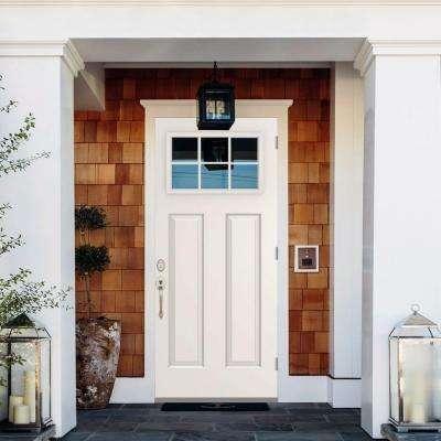 6 LiteInswing Primed White Steel Prehung Front Door w/ 4 in. Wall