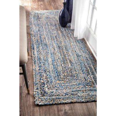 Otelia Solid Jute Denim 3 ft. x 10 ft. Runner