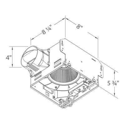 GreenBuilder G2 Series 80 CFM Wall or Ceiling Bathroom Exhaust Fan with Adjustable Humidity Sensor, ENERGY STAR