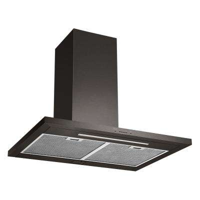30 in. 600 CFM Indoor Wall Mount Range Hood with Light in Black Stainless Steel
