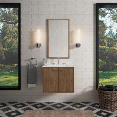 Jute 24 in. Vanity Cabinet in Walnut Flax with Chrome Hardware