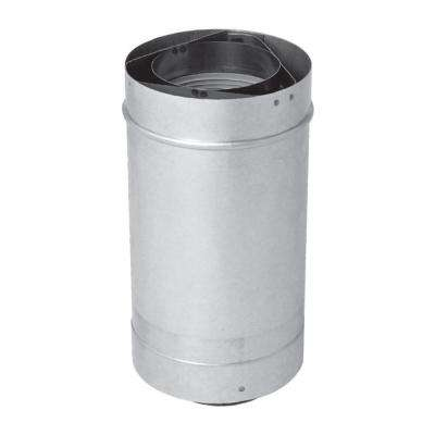Adjustable 7.5-22 in. Vent Length 3 x 5 in. Stainless Steel Concentric Vent for Rheem Indoor Tankless Gas Water Heaters