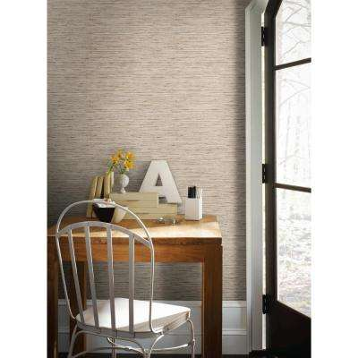 28.18 sq. ft. Grasscloth Peel and Stick Wallpaper