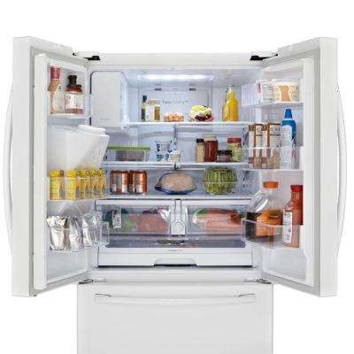 24.6 cu. ft. French Door Refrigerator in White