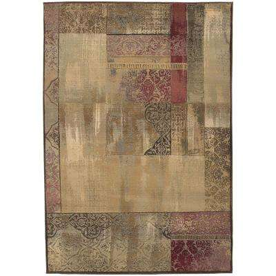 New Country Beige Sage 6 ft. 7 in. x 9 ft. 1 in. Area Rug