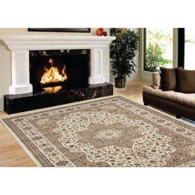 Majestic Beige 7 ft. 9 in. x 10 ft. 2 in. Area Rug