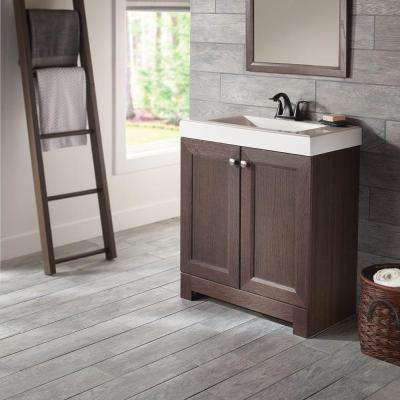 Shaila 30.5 in. W Bath Vanity in Gray Oak with Cultured Marble Vanity Top in White with White Sink