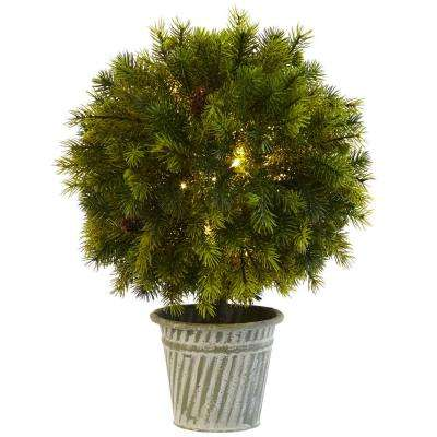 18 in. Pine Ball in Iron Top
