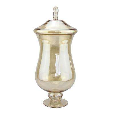 16.5 in. x 7 in. Amber Glass Apothecary Jar