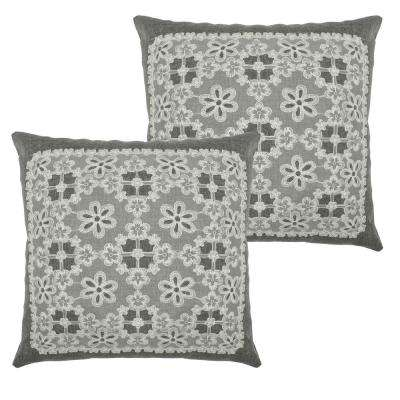Cecilia Grey Polyester Slip Covers (Set of 2)