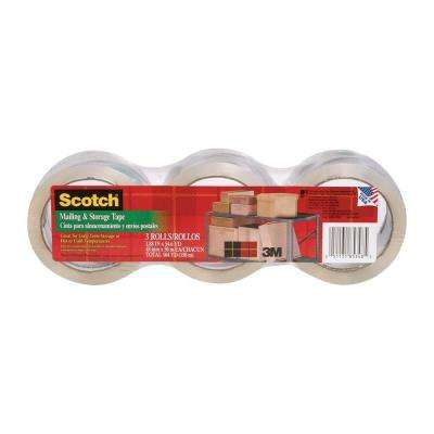 Scotch 1.88 in. x 54.6 yds. Long Lasting Moving and Storage Packaging Tape (3-Pack)