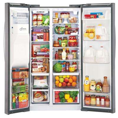 26.2 cu. ft. Side by Side Refrigerator with In-Door Ice Maker in Stainless Steel