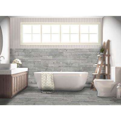 Timber Grey 6 in. x 24 in. Porcelain Floor and Wall Tile (14 sq. ft. / case)