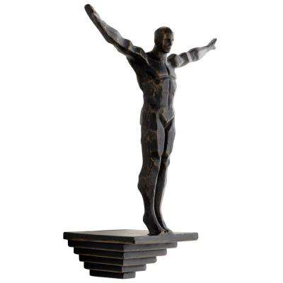Prospect 14.25 in. x 10.75 in. Iron Statue