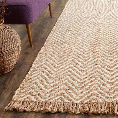 Natural Fiber Bleach/Beige 3 ft. x 10 ft. Runner Rug