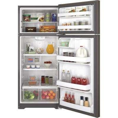 17.5 cu. ft. Top Freezer Refrigerator in Slate, Fingerprint Resistant and ENERGY STAR
