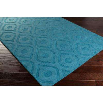 Central Park Zara Teal 2 ft. x 10 ft. Indoor Runner Rug