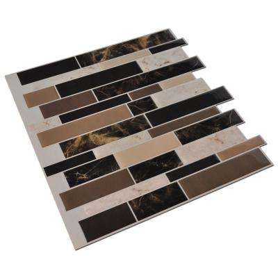 Marble Brown 11.8 in. x 11.8 in. Vinyl Peel and Stick ( 9.4 sq. ft. /pack)