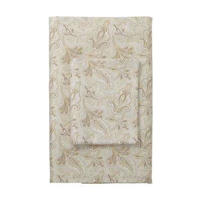 Legends Blair Paisley 400 Thread Count Flat Sheet