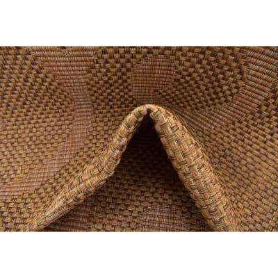 Outdoor Vine Brown 6' 0 x 6' 0 Square Rug