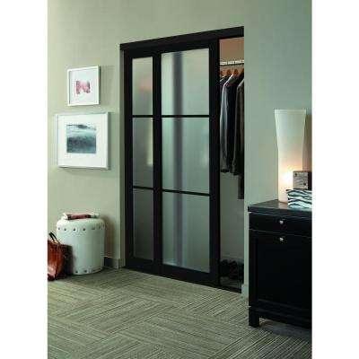 Eclipse 3 Lite Anodized Aluminum Duratuf Tempered Mystique Safety Glass Interior Sliding Door