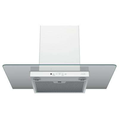 30 in. Wall Mount Range Hood with Light in Matte White, Fingerprint Resistant