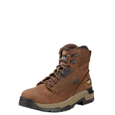 Men's Oily Distressed Brown Master Grip Waterproof Work Boot