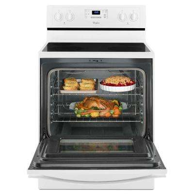 5.3 cu. ft. Electric Range with Self-Cleaning Oven in White with SteamClean Option