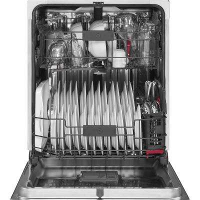 Profile Top Control Dishwasher in White with Stainless Steel Tub and Steam Prewash