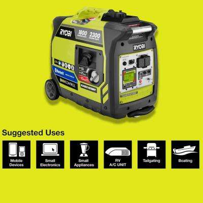 Bluetooth 2,300 Starting Watt Super Quiet Gasoline Powered Digital Inverter Generator