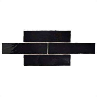 Chester Nero 3 in. x 12 in. Ceramic Wall Tile (1 sq. ft. / pack)