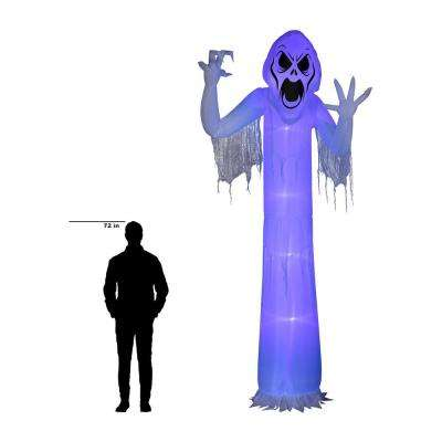 12 ft. Pre-Lit Inflatable Short Circuit Frightening Reaper Airblown