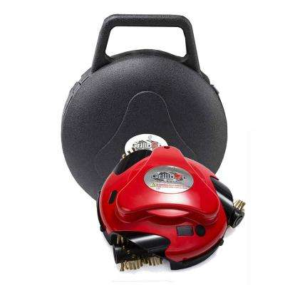 Red Automatic Grill Cleaning Robot with Carry Case Bundle