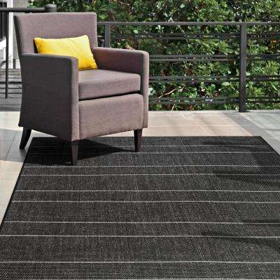 Outdoor Alaina Black 6 ft. 3 in. x 9 ft. 2 in. Area Rug