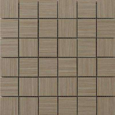 Strands Olive 12 in. x 12 in. x 10 mm Porcelain Mesh-Mounted Mosaic Tile