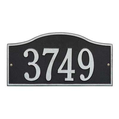 Rolling Hills Rectangular Black/Silver Standard Wall One Line Address Plaque