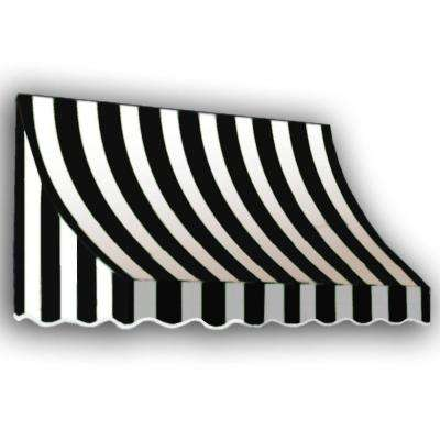 16 ft. Nantucket Window/Entry Awning (56 in. H x 48 in. D) in Black/White Stripe